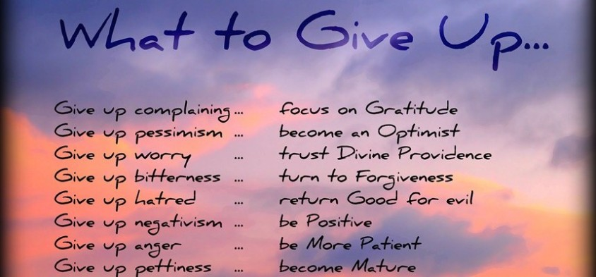 what to give up on